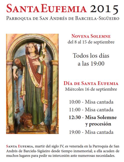 Cartel de Santa Eufemia 2015